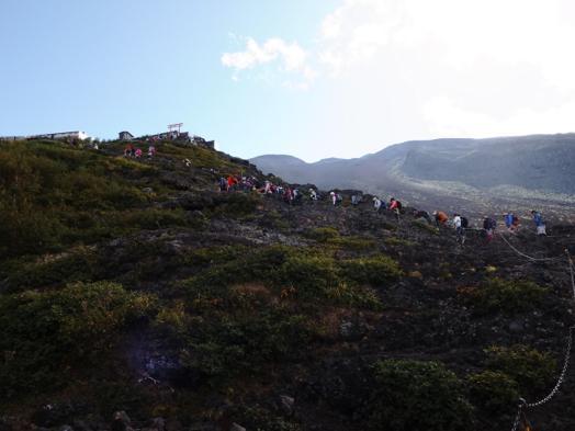 富士登山道の行列