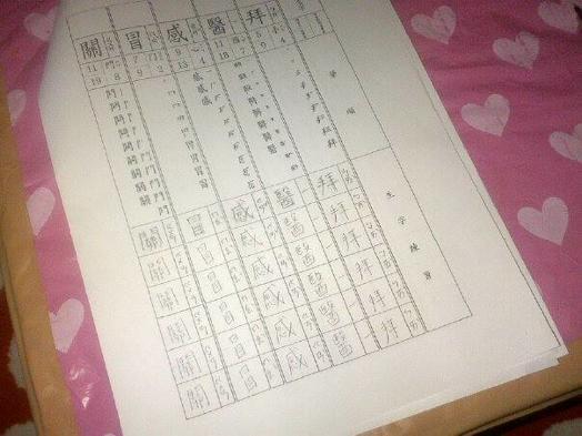 中国文化大学の宿題