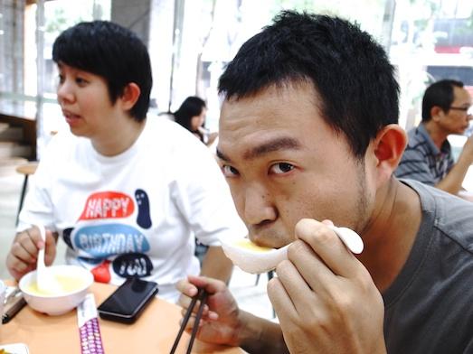 台湾の玉米粥を食べてみる
