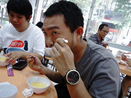 台湾の玉米粥を食べてみる。
